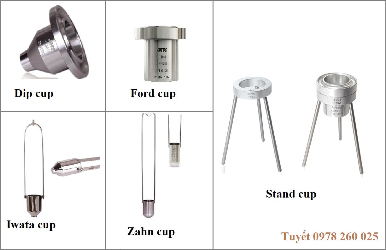Các loại cốc đo độ nhớt sơn, mực in, lớp phủ