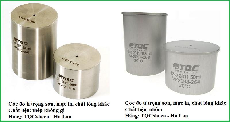 Cốc đo tỷ trọng TQCsheen cho sơn, mực in, chất lỏng khác